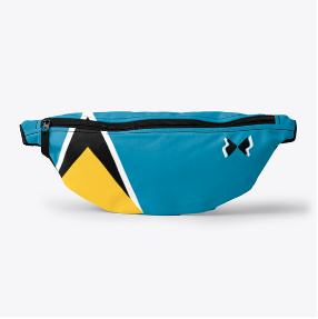 St Lucia Flag Fanny Pack